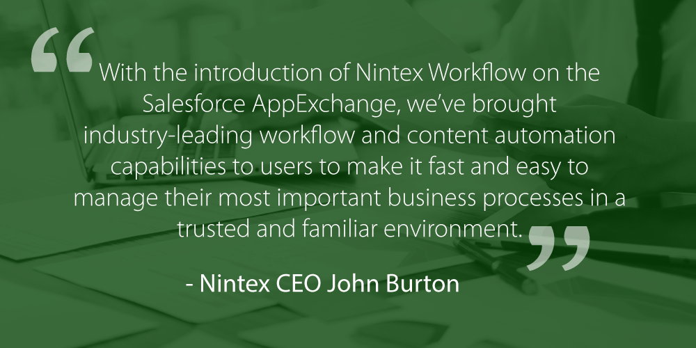 Nintex for Salesforce John Burton